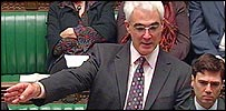 Alistair Darling announces his Northern Rock plan in the Commons