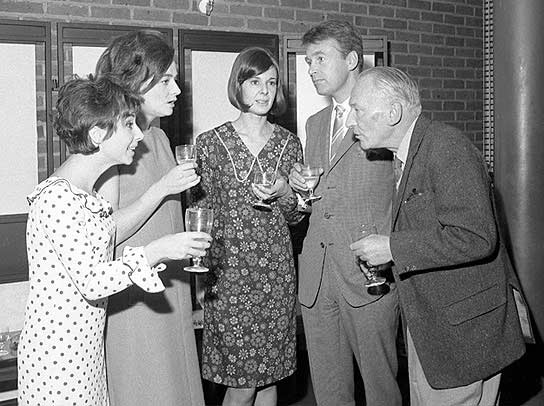 Carole Ann Ford, Jacqueline Hill, Verity Lambert, William Russell and William Hartnell.