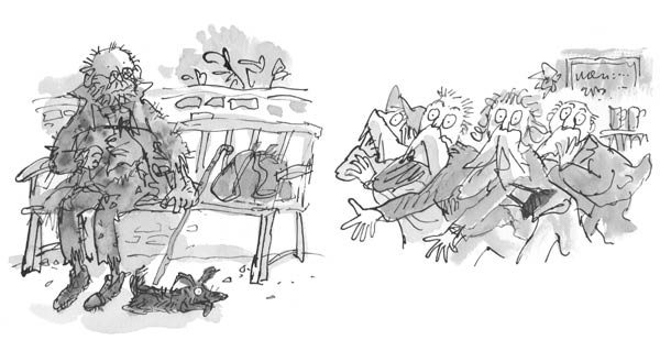 Mr Stink illustrations by Quentin Blake
