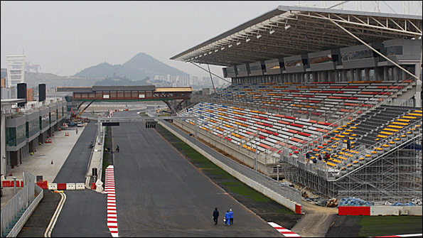 A section of the new Korean Grand Prix track, in Yeongam five hours south-west of Seoul
