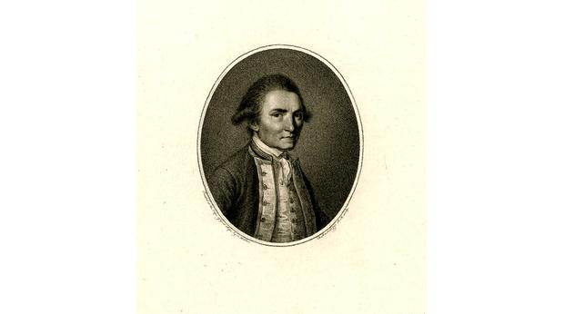 Portrait print of Captain James Cook from 1784. Copyright Trustees of the British Museum