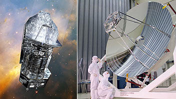 Herschel telescope and mirror