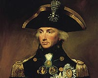 Rear Admiral Viscount Nelson, wearing his Nile decorations - with diamond 'chelengk', a gift from Sultan of Turkey, in his hat