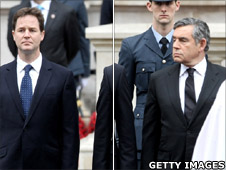 Nick Clegg and Gordon Brown