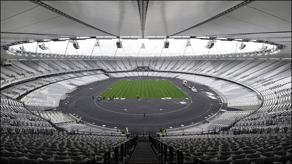 General view of the Olympic Stadium in Stratford