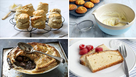 pastry, scones, sponge cake and buttercream icing