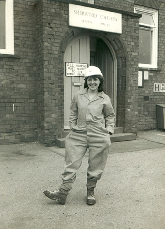 Sue Brown poses as 1982's National Coal Queen champion.