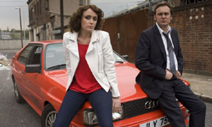Ashes To Ashes: DI Alex Drake (Keeley Hawes) and DCI Gene Hunt (Philip Glenister)