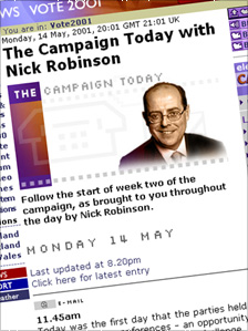 Screenshot of The Campaign Today with Nick Robinson