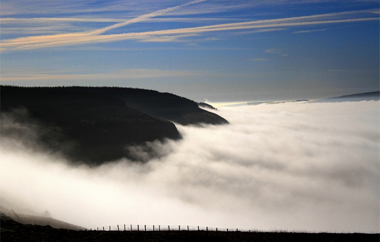 Looking down on Rhondda Fawr by Mike Davies.