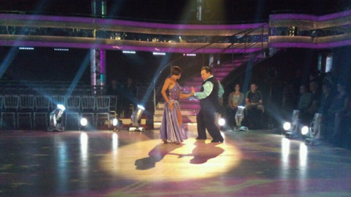 Russell Grant and Flavia Cacace dancing.
