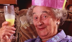 Granny from the Royal Family on TV