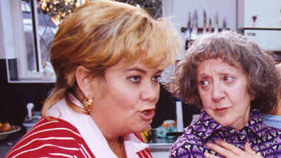 Dawn French and Thelma Barlow