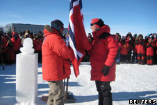 Norway's PM marks 100th anniversary of south pole expedition