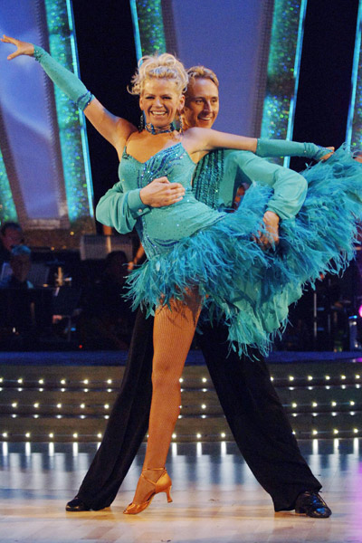 Zoe Ball takes to the dancefloor on Strictly Come Dancing back in 2005
