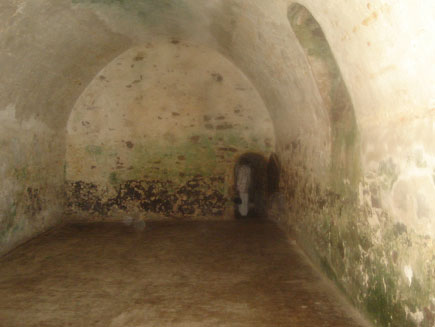 Interior of a dungeon in Elmina Castle