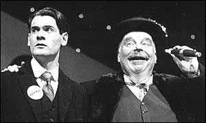 Gregory Fox-Murphy as Kafka and Colin Prockter as Herman K