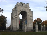 Cenotaph at Victoria Park in Leicester