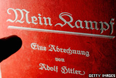 The front cover of Hitler's book 'Mein Kampf'