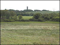 The nature reserve looking over to the Naze Tower