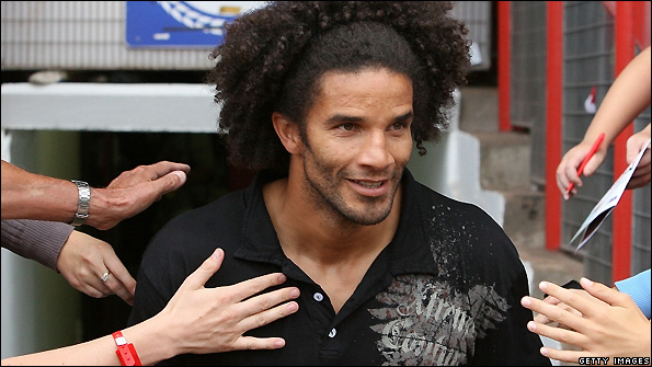 David James at his unveiling as a Bristol City player