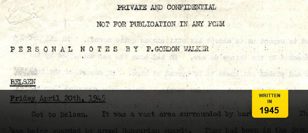 Patrick Gordon Walker's Belsen Report.
