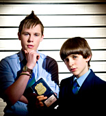 "Red Sharkey (Seb Charles, left) and Fletcher ""Half"" Moon (Rory Elrick) are on the trail of a mobile phone thief"