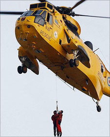 RAF Sea King helicopter