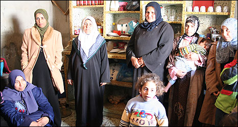 Al-Atar women family members, Beit Lahia, Gaza