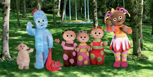 In the Night Garden characters in a line
