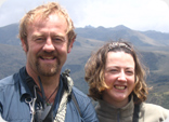 Ken Hames and Julie in the Andes