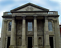 Grand Portico of  St. George's Church, Belfast  taken from Ballyscullion