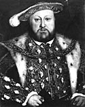 Henry VIII, c. 1540, from a portrait by Holbein