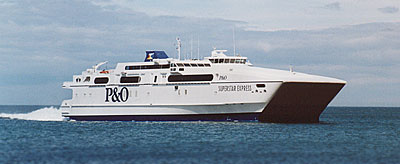 Larne's high speed ferry on the Short Sea Crossing - P&O's SuperStar Express