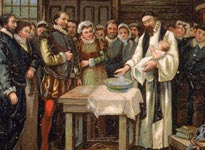Baptism of Virginia Dare, 1587 (Getty Images/Hulton|Archive)