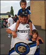 Inter fans at the Vic!