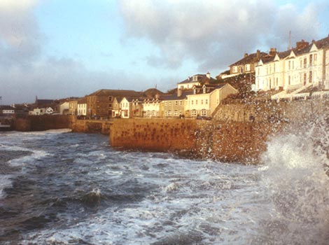 Porthleven harbour by Martyn Tebbut