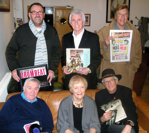 Left-to-right, top: Vince Eager, Bruce Welch, Marty Wilde, bottom: Clem Cattini, Sue MacGregor, Terry Dene.
