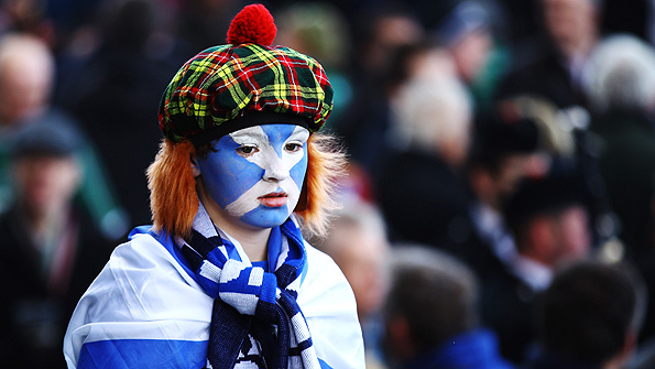 Scotland fans have seen little to cheer them in this year's Six Nations campaign. Photo: Getty.
