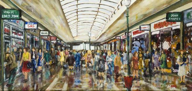Chelmsford Shoppers by Charles Middleton, c.1980
