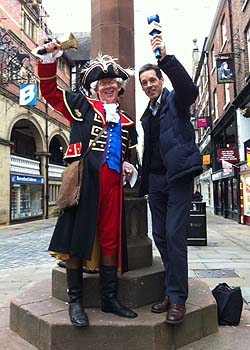 The town crier of Chester, David Mitchell