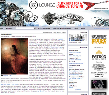 BBC - BBC Music Blog: Mercury Prize Nominations - Chromewaves