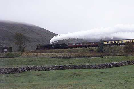 A 'Black Five' special at Ribbleheadp