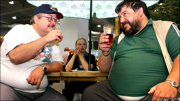 Real Ale drinkers at beer festival