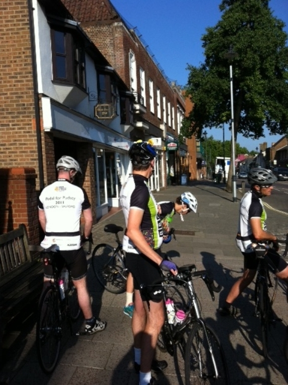 pedal for pudsey cyclists