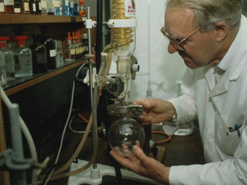 Science experiment in a Sussex University laboratory