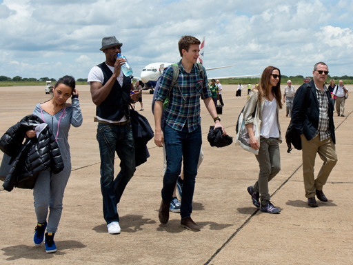 Greg James lands in Africa
