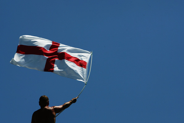 St George flag. Getty Images