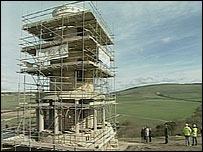 Clavell Tower during its renovation