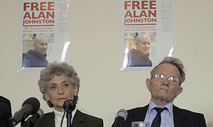 Alan Johnston's parents at the press conference